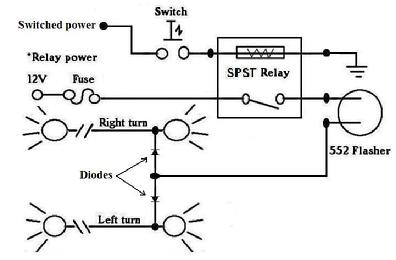 396_4 way_flasher_diagram installing hazard (4 way) switch on 950 or older 990 (with or hazard relay wiring diagram at n-0.co